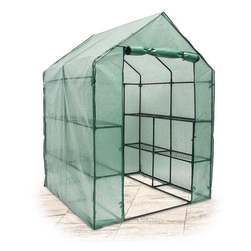 Relaxdays serre de jardin tente pour plantes fleurs bâche avec étagères  potager intempéries housse de protection grande taille 140 x 190 x 140 cm  ...