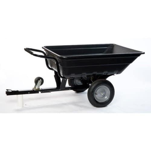 remorque brouette basculante 250 kg pour tracteur tondeuse quad. Black Bedroom Furniture Sets. Home Design Ideas