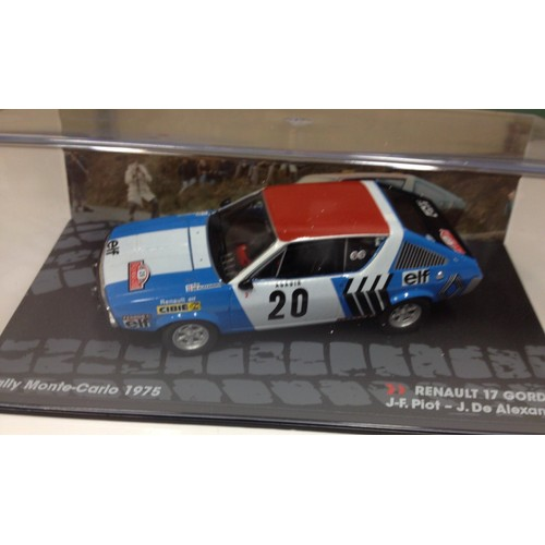 renault 17 gordini r17 rally monte carlo 1975 piot ixo 1 43. Black Bedroom Furniture Sets. Home Design Ideas