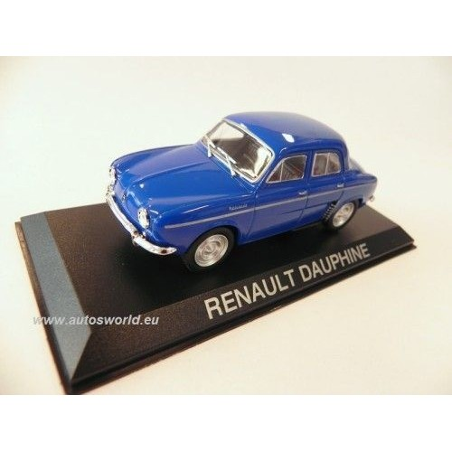 renault dauphine bleue voiture miniature collection 1 43. Black Bedroom Furniture Sets. Home Design Ideas
