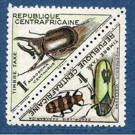 R�publique Centrafricaine Ann�e 1962 Timbres Taxe N� 3 Et 4 Neufs Col�opt�res