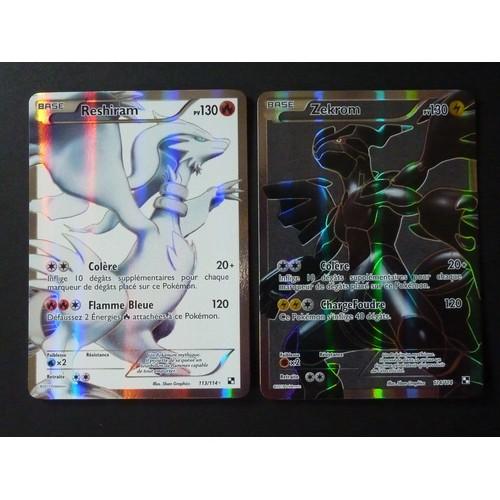 Reshiram 113 114 et zekrom 114 114 pokemon noir et blanc - Pokemon noir et blanc personnage ...