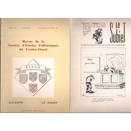 Revue De La Soci�t� D'�tudes Folkloriques Du Centre-Ouest.