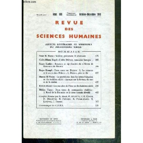 Revue des sciences humaines fascicule 100 octobre for Revue sciences humaines