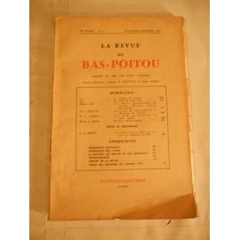Revue Du Bas Poitou - 70e Ann�e, N� 6 - Novembre-D�cembre 1959