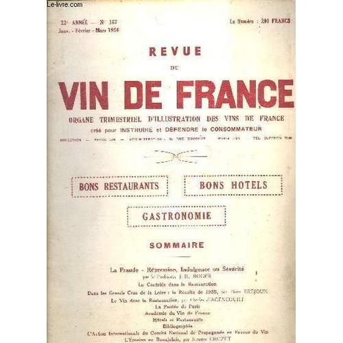 Revue du vin de france n 167 1956 la fraude r pression for Revue vin de france
