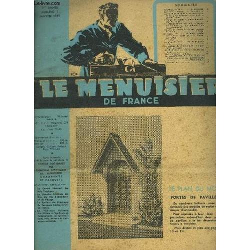 Revue Le Menuisier De France N°1 Janvier 1949 - Plan Du Mois
