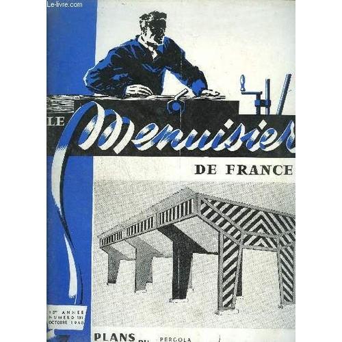 Revue Le Menuisier De France N 151 Octobre 1960 Plans Du Mois
