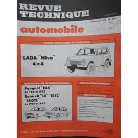 revue technique automobile lada niva 4x4 moteur essence 78 cv. Black Bedroom Furniture Sets. Home Design Ideas