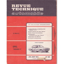 Revue Technique Automobile Opel Rekord 2 N�326