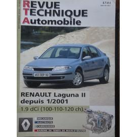 revue technique automobile renault laguna 2 ii depuis 1 2001 1 9 dci 100 cv 110 cv120 cv. Black Bedroom Furniture Sets. Home Design Ideas