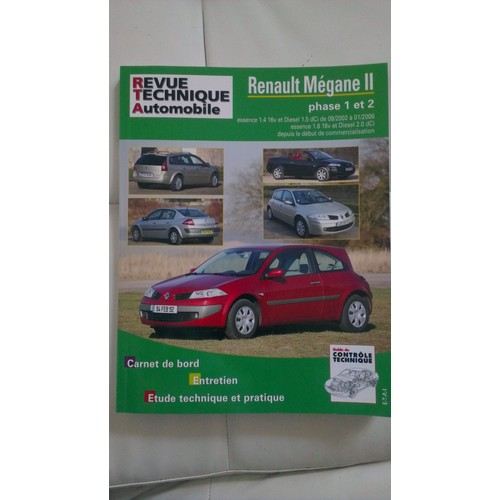 revue technique automobile renault megane 2 de etai format. Black Bedroom Furniture Sets. Home Design Ideas