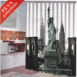 rideau de douche new york achat vente de d coration. Black Bedroom Furniture Sets. Home Design Ideas