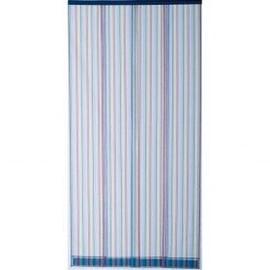 rideau de porte moustiquaire 4 bandes 100x220 cm multicolore