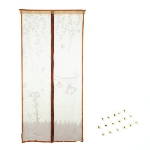 Rideau Magnétique Anti-Moustiques Anti-Insectes Bug 100*210 Café