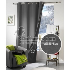rideau thermique et isolant phonique moonlight gris anthracite. Black Bedroom Furniture Sets. Home Design Ideas