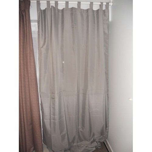 rideaux gris taupe achat vente de rideaux priceminister rakuten. Black Bedroom Furniture Sets. Home Design Ideas