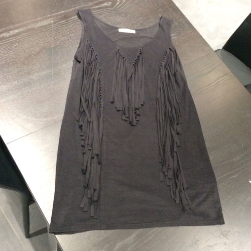 robe a frange noir achat vente de pr t porter. Black Bedroom Furniture Sets. Home Design Ideas