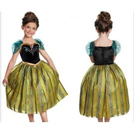 robe anna verte pour 2 8 ans d guisement elsa la reine. Black Bedroom Furniture Sets. Home Design Ideas