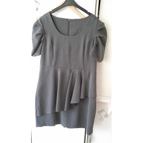 robe bleu bonheur polyester 44 gris achat et vente. Black Bedroom Furniture Sets. Home Design Ideas