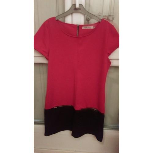 robe cache cache robe d 39 hiver coton 40 rouge achat et vente. Black Bedroom Furniture Sets. Home Design Ideas