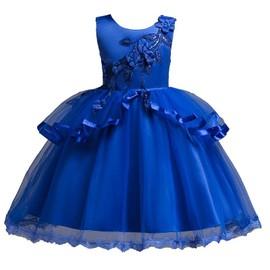 9748a79fda57b Robe Cérémonie Mariage Fille Chic Broder Jupe Princesse Robe Fille De  Soirée Fille Robe Demoiselle De ...
