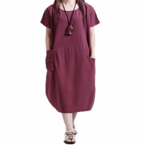 4392f5d1442 robe-chemise-kaftan-retro-femmes-en-coton-longue-manches -courtes-1231518570 L.jpg