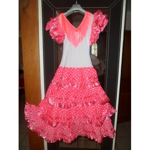 robe danse flamenco s villane polyester 10 ans rose. Black Bedroom Furniture Sets. Home Design Ideas