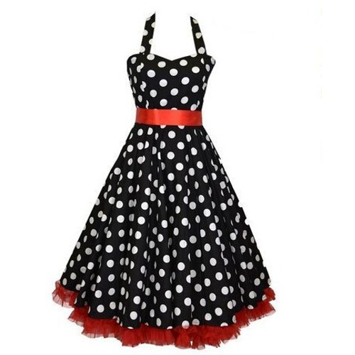robe de bal soir e dansante style ann es 50 vintage rockabilly swing taille 36 au 44. Black Bedroom Furniture Sets. Home Design Ideas