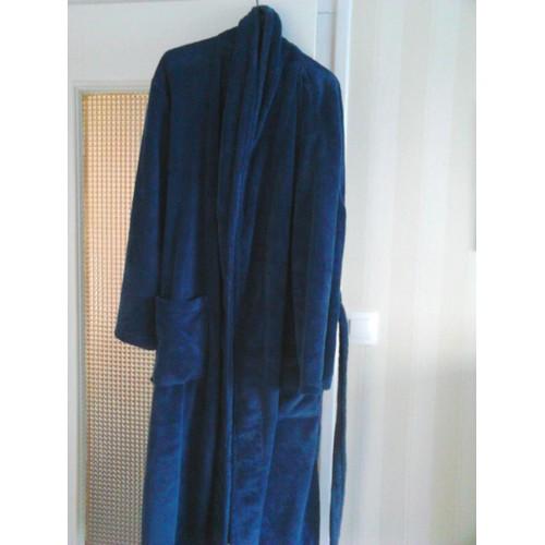 robe de chambre nsp velours 46 bleu marine achat et vente. Black Bedroom Furniture Sets. Home Design Ideas
