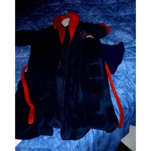Robe De Chambre Spiderman Spiderman Coton 4 Ans Bleu Marin