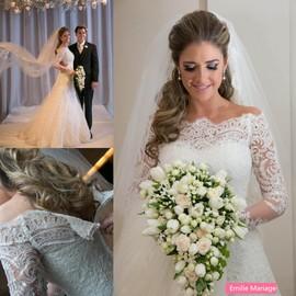 robe de mari e mariage col bateau dos orn des boutons