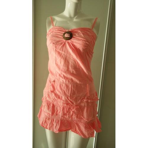 robe de plage couleur corail coton 36 rose achat et vente. Black Bedroom Furniture Sets. Home Design Ideas