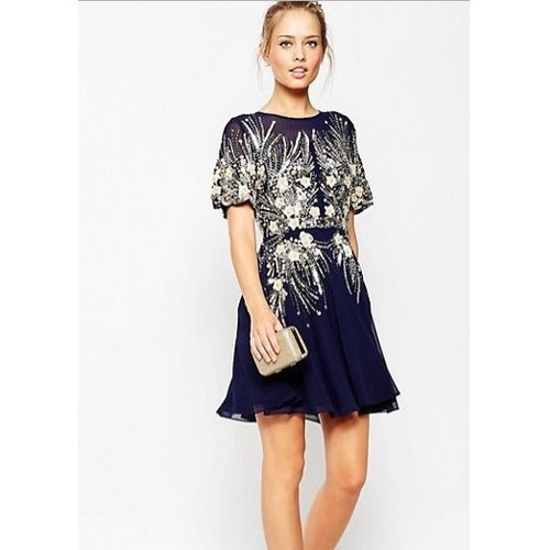 robe de soir e asos 690415 bleu en 38 achat et vente. Black Bedroom Furniture Sets. Home Design Ideas