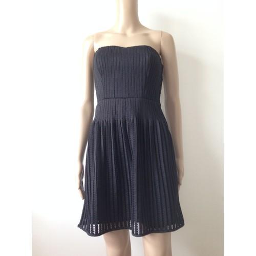 robe de soir e naf naf bustier viscose 36 noir neuf avec l. Black Bedroom Furniture Sets. Home Design Ideas