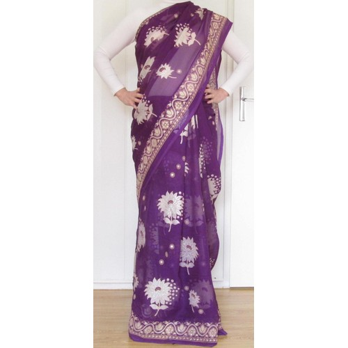 Robe de soiree sari indien