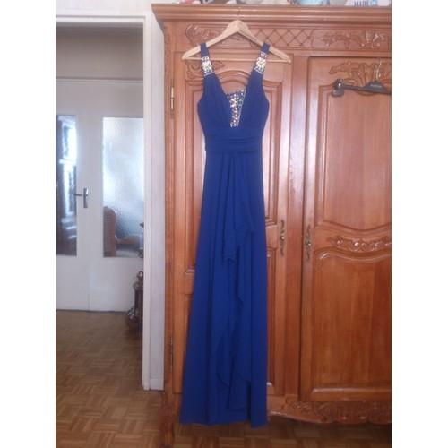 robe de soir e taille s m bleu lectrique achat et vente. Black Bedroom Furniture Sets. Home Design Ideas