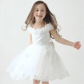 4034c2e577232 Robe Demoiselle D honneur Fillette  Robe D enfant Pour Mariage Robe Courte  D enfant Robe De ...