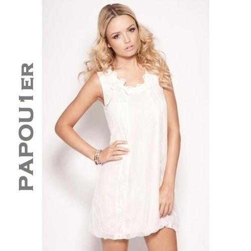 8ba0eb765b2fa Robe Dentelle Blanc Poudre - Heaven - Neuve - T.42 - Achat et vente