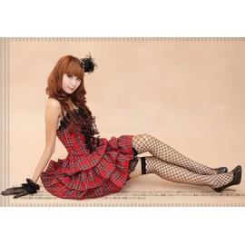 robe ecossaise bustier haut tunique soir e c r monie f te fin d 39 ann e rouge noir d guisement. Black Bedroom Furniture Sets. Home Design Ideas