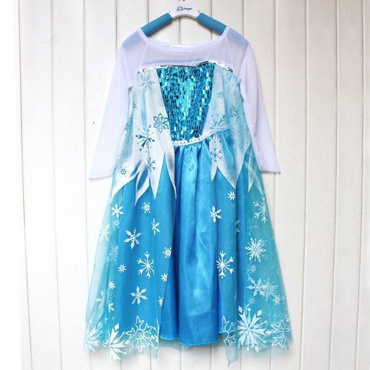 Robe Enfant Elsa La Reine Des Neiges Pour Déguisement Look Princesse