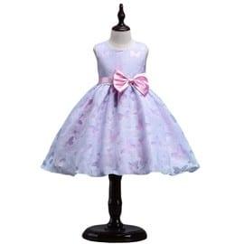 2ca1495a212 Robe Enfant Fille Princesse Imprimé Jupe Demoiselle Loose Pour 4-11 Ans