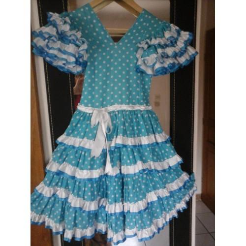 robe flamenco s villane coton 6 ans turquoise achat et vente. Black Bedroom Furniture Sets. Home Design Ideas