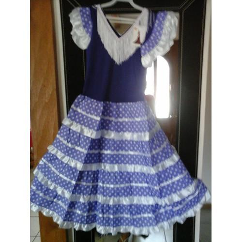 robe flamenco s villane espagnole elasthanne 12 ans violet. Black Bedroom Furniture Sets. Home Design Ideas