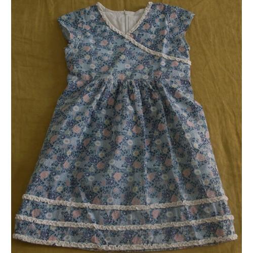 robe laura ashley coton 12 ans bleu lavande achat et vente. Black Bedroom Furniture Sets. Home Design Ideas