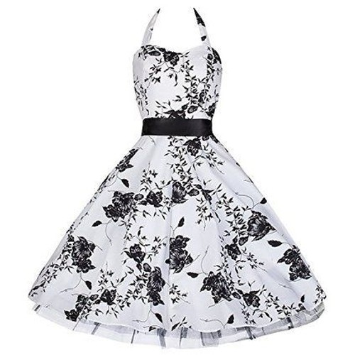 robe pretty kitty fashion ann es 50 vintage rockabilly taille 36 au 44 couleur blanche et. Black Bedroom Furniture Sets. Home Design Ideas
