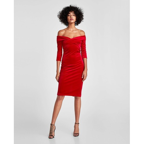 Robe de soiree rouge zara