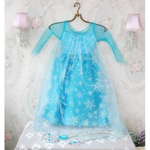 robe sans accessoires elsa la reine des neiges frozen d guisement costume personnage princesse. Black Bedroom Furniture Sets. Home Design Ideas