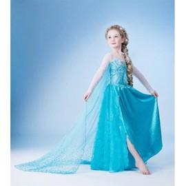 robe tenue princesse dguisement elsa la reine des neiges 77