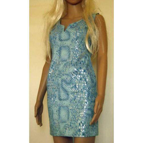 80eb5458266 Robe Ultra Féminine Bleu Argenté Style Écailles De Poissons Sirène  Paillettes Taille 36 Michel Adam